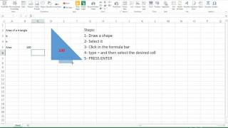 Excel trick- connecting shapes to cell contents in excel and adding formula to have dynamic drawings