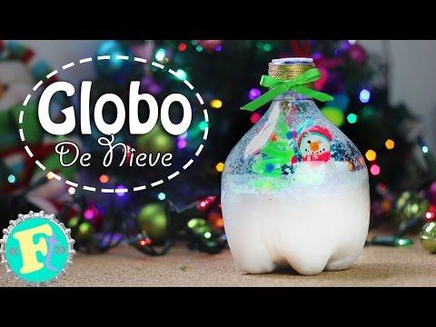Globo de Nieve con Bote de refresco /Decoración NAVIDAD/ Floritere
