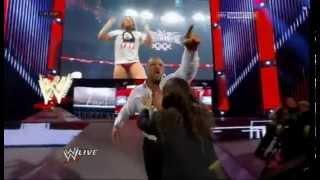 Wwe Daniel Bryan attacked Triple H on 31/03/2014 in Raw