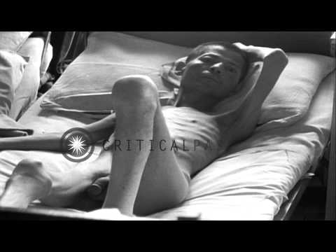 Patients suffering from injuries lying in hospital beds in Hamm, Germany during W...HD Stock Footage
