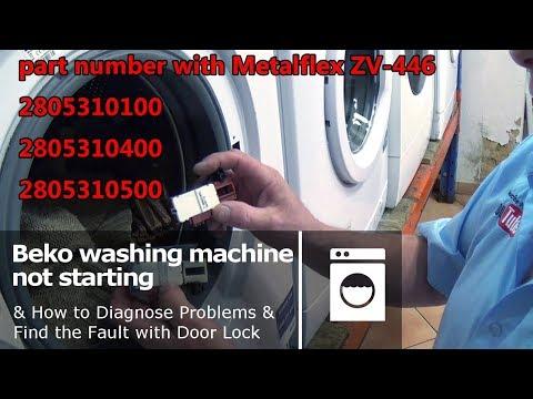 Ahma Genuine Lavatrice Interruttore Di Interblocco Porta METALFLEX ZV-446