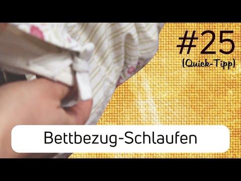 Auch große Bettdecken einfach beziehen | Quick-Tipp | Video #25