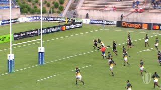 World Rugby U20 Highlights, Sudafrica-Nuova Zelanda 40-30