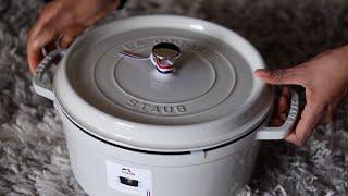STAUB COCOTTE UNBOXING (White Truffle 28cm/7QT)   Non-Toxic & Healthy Cookware