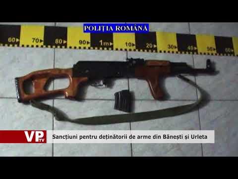 Sancțiuni pentru deținătorii de arme din Bănești și Urleta