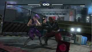 Hayate vs Ayane Gameplay