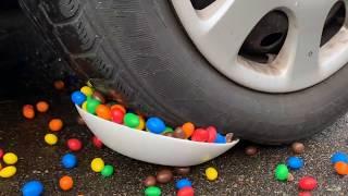 Crushing Crunchy & Soft Things by Car! EXPERIMENT Car vs Coca Cola, Fanta, Mirinda Balloons