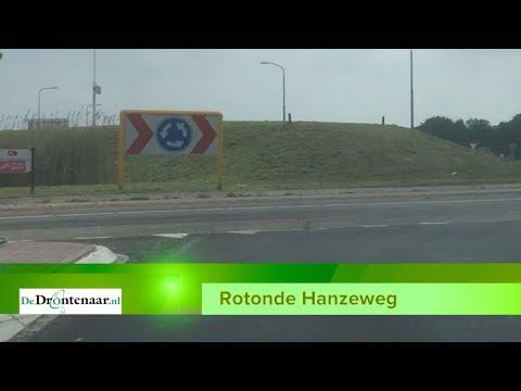 Rotonde Hanzeweg / Biddingringweg bij Dronten twee weken afgesloten