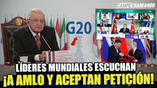 JUSTO AHORA! AMLO ES TENDENCIA INTERNACIONAL LÍDERES DEL G20 ACEPTAN SU PROPUESTA!