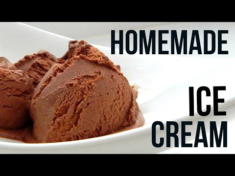 Video Homemade Dark Chocolate Ice Cream (How To Make - Easy Home Recipe)