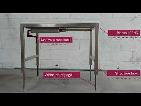 Table de découpe hauteur réglable manuelle