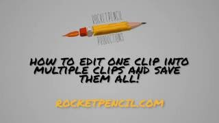 How to cut a long clip into multiple clips and save in Adobe Premiere Pro