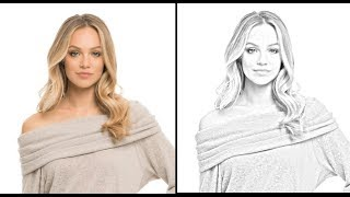 convert image to pencil drawing Quickly using GIMP