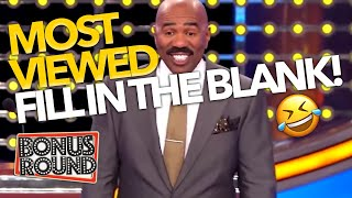 MOST VIEWED FILL IN THE BLANK! Steve Harvey Finds These Answers HILARIOUS On Family Feud USA