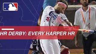 Bryce Harper belts 45 HRs en route to 2018 Derby win