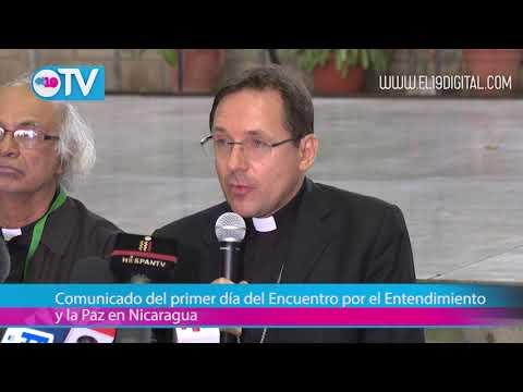 Comunicado del primer día del Encuentro por el Entendimiento y la Paz en Nicaragua