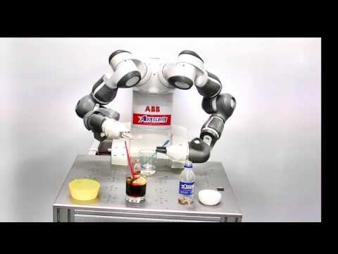 The incredible YuMi robot demonstrating its abilities as a Bar Tender