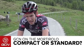 Is A Compact Faster Than A Standard Chainset? GCN Vs. The Mortirolo   Giro D'Italia 2015