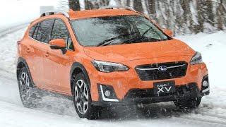 スバル新型XVがスゴすぎる!アクセル全開で雪上ドリフト!