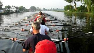 Rowing 24 Sculls (1): At Ease, Passing A Bridge