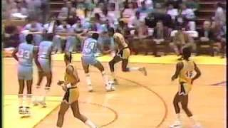 1987 -- Lakers 40, Kings 4 - 1st Qtr (1 of 2)