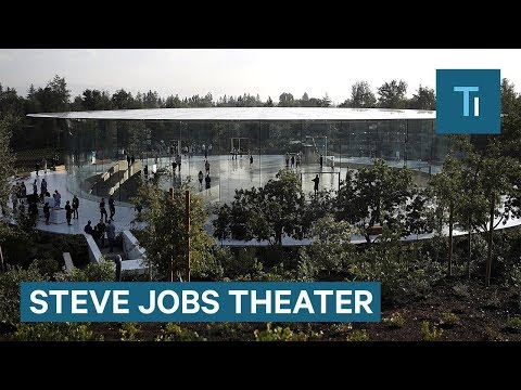 This is what it's like inside Apple's new Steve Jobs Theater