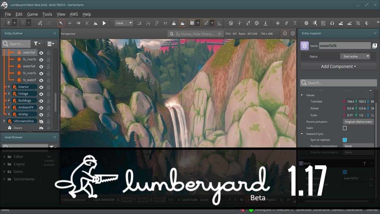 Lumberyard Game Engine 1.17 Beta Released... Basically.