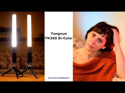Prezentare lampa cu 360 LED-uri 3200-5500K Yongnuo YN360 Bi-Color
