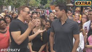 Jean-Claude Van Damme Shows Off His Moves at The Grove!