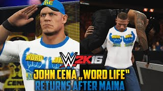 "WWE 2K16: RAW April 4th after Mania - John Cena ""World Life"" shocking Return"