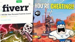 I HIRED A FORTNITE MOBILE COACH THAT THOUGHT I WAS CHEATING *Pro Player CARRIES Coach*