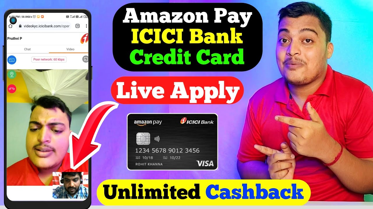 Amazon pay icici charge card use without earnings evidence   Amazon ICICI charge card video kyc Live thumbnail
