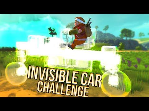 INVISIBLE CAR RACE in Scrap Mechanics!!