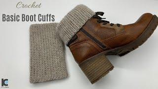 Crochet : Basic Boots Cuff ( Free Pattern )