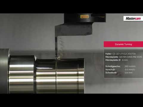 Mastercam 2020 | Dynamic Motion Technology auch im Drehen