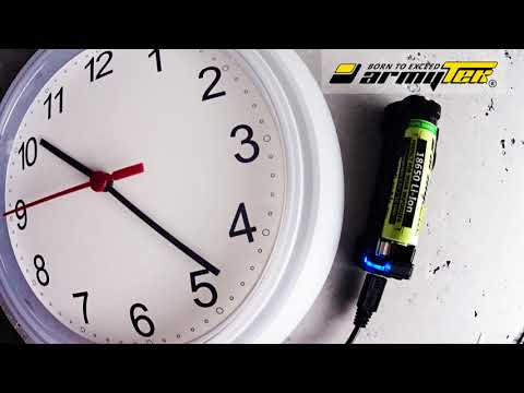 Charging of battery 18650 Li-Ion 3000mAh for Vape with Armytek Handy C1