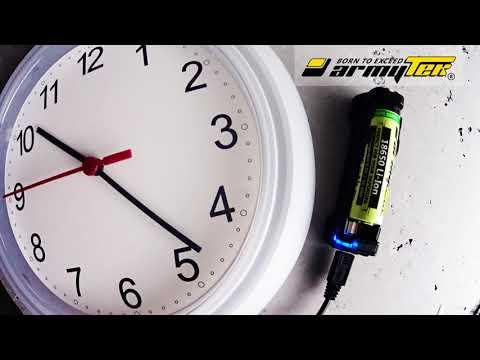 Charging of battery 18650 Li-Ion 3000mAh for Vape with Armytek Handy C1