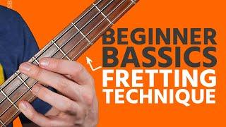 Basic Bass Fretting Technique (Beginner Bass Basics)