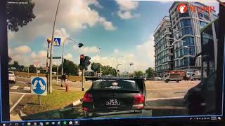 Driver weaves in and out of traffic, exits car to confront Stomper who honked at him