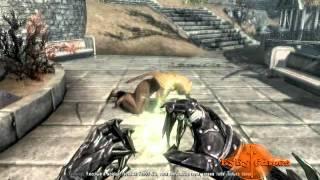 Скайрим - От паралича моб взлетает в небо