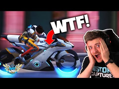 , title : 'Overwatch - TRACER MOTORBIKE! Storm Rising Mission Trailer REACTION!'