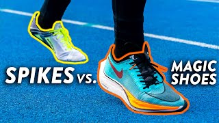 Track Spikes VS. Nike ZoomX Vaporfly Next%