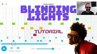 BLINDING LIGHTS on Chrome Music Lab