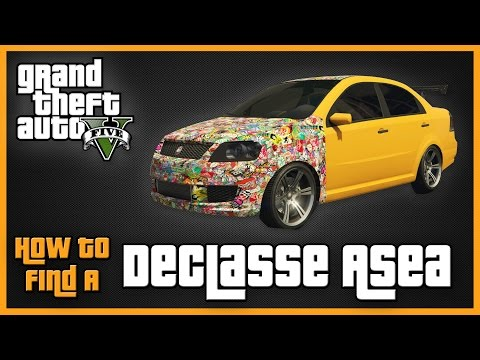 GTA V - How To Find A Declasse Asea (RARE Stickerbomb Car)