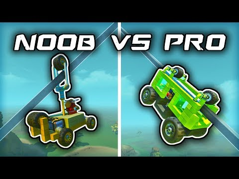NOOB vs PRO: Monorail Challenge (Scrap Mechanic Gameplay)