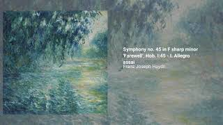 Symphony no. 45 in F-sharp minor 'Farewell', Hob. I:45