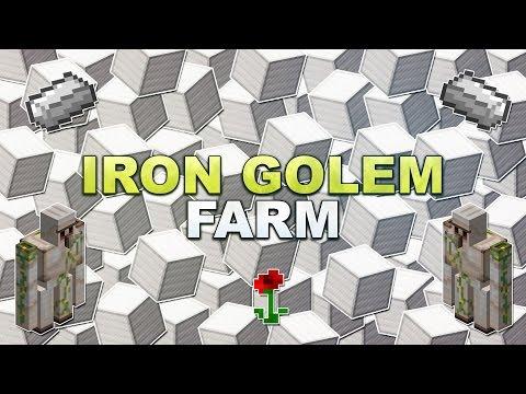 Minecraft - Iron Golem Farm - Tutorial 1.13