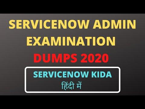 servicenow admin exam dumps 2020 - YouTube