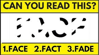 Only People With a High IQ Will Be Able To Read These Erased Words!-98%Fail-Eye test
