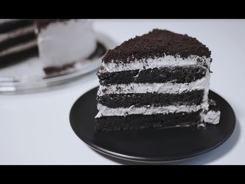 Video Oreo Cake Recipe 오레오 케이크 만들기 | 한세